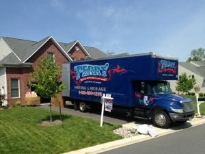 A photo of a Perry Moving and Storage Company Truck In Howard County